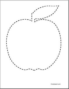 Apple Theme - Tracing - Printable Worksheet - preview 1