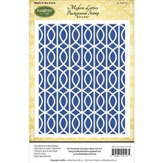 "JustRite Papercraft Cling Background Stamp 4.5""X5.75""-Modern Lattice"