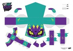 Blog_Paper_Toy_papertoys_Little_Evil_Purple_template_preview