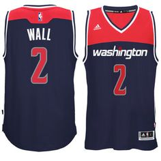 adidas John Wall Washington Wizards Navy Player Swingman Alternate Jersey   wizards  nba  washington e3b7b8b91