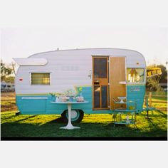 Grandma's was pink and white.  Took the Shasta to Shasta.   Would love one of these on the mainland for summer camping fun!
