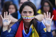 """""""Peace,"""" from Venezuela protesters"""