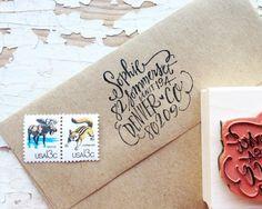 custom address stamp...