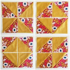 Broken Dishes Quilt Block Tutorial - Simple Simon and Company Half Square Triangle Quilts Pattern, Quilt Square Patterns, Easy Quilt Patterns, Half Square Triangles, Paper Piecing Patterns, Pattern Blocks, Quilting For Beginners, Quilting Tips, Quilting Tutorials