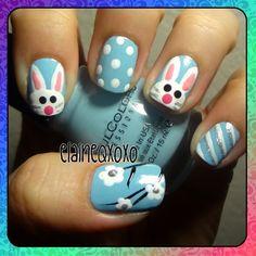 easter bunny by  elaineqxoxo #nail #nails #nailart