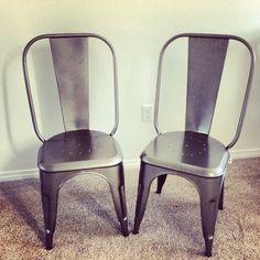 Metal industrial chairs #natashaGjewellery