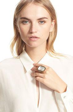 Alexander McQueen Swarovski Crystal Ring