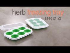 Herb Freezing Tray - YouTube  www.pamperedchef.com/pws/kimpierce