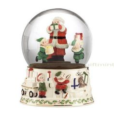lenox christmas snow globes   Musical Snow Globes