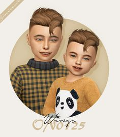 Wings hair for kids and toddlers by Simiracle for The Sims 4 Sims 4 Hair Male, Sims Hair, Male Hair, Die Sims, Sims Cc, Sims 4 Children, 4 Kids, Sims Mods, Toddler Hair Sims 4