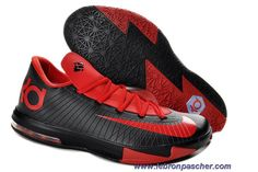 Rouge Noir 599424-806 Kevin Durant Chaussures Nike Zoom KD 6 Low Vente