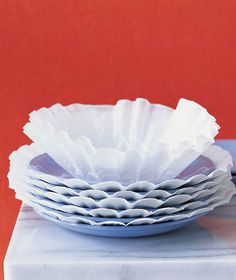 discover six amazing new uses for coffee filters, crafts, repurposing upcycling, Coffee filters can also help prevent scratches on your dishes