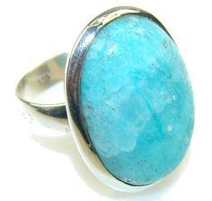 $45.85 Inspire Blue Rhodochrosite Sterling Silver ring s. 8 at www.SilverRushStyle.com #ring #handmade #jewelry #silver #rhodochrosite