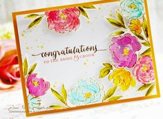Papell with Love: Wplus9 - More Pretty Peonies w/ Butterfly Frame