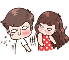 Boobib lovely couple 3 (Indo) – LINE stickers Cute Chibi Couple, Love Cartoon Couple, Cute Love Cartoons, Cute Cartoon Girl, Cute Couple Art, Cute Images For Dp, Cute Love Pictures, Cute Cartoon Pictures, Cute Love Gif