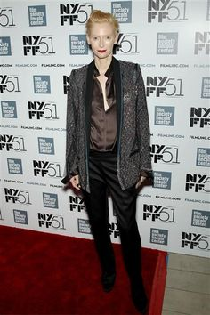 """Tilda Swinton attends """"Only Lovers Left Alive"""" during the 2013 New York Film Festival on Oct. 10, 2013."""