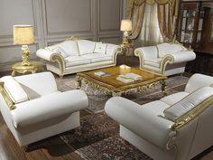 Classic Leather Living Room Sofa Set, $32,398.56 (http://frenchcountryfurnitureusa.com/classic-leather-living-room-sofa-set/)