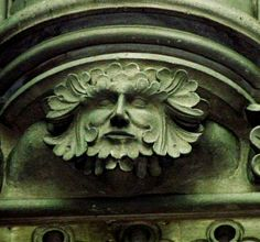 One of four Green Men in the Cathedral of Bayeux, Normandy, France (photo Claude Rayon©)