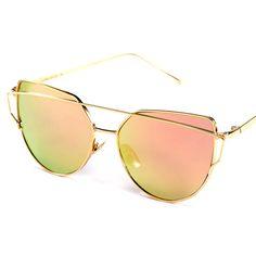 726e71a1a3473 Barato Hot Sale 2017 Rosa do vintage Espelho óculos de sol das mulheres e  dos homens