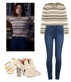 Aria Montgomery - pll / pretty little liars by shadyannon on Polyvore featuring polyvore fashion style Maje Paige Denim Maison Margiela Hueb clothing