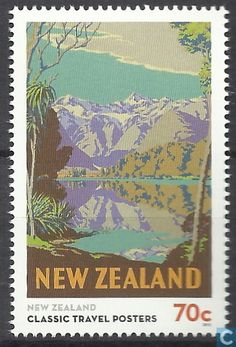 Postage Stamps - New Zealand - Classic travel posters