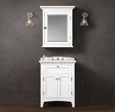 Cartwright Powder Room Vanity Sink RH top options