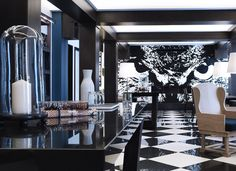 Our lobby, a place of life... @The Chess Hotel #Paris - Photo © Paul Bowyer - Artist credits Victor Ash/Cyprien Chabert/Alix Waline