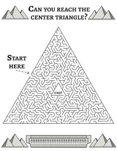 Solve This Pyramid Maze! Facts About Ancient Egypt, Ancient Egypt Lessons, Ancient Egypt Activities, Ancient Egypt Crafts, Ancient Egypt Fashion, Ancient Egypt For Kids, Ancient Egypt Games, Ancient Aliens, Ancient Greece