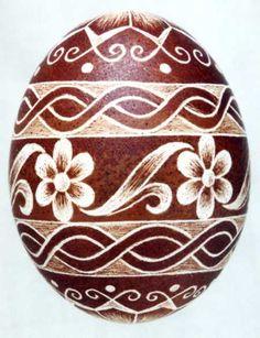Karcolt tojás - Scratch-carved egg (61)