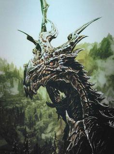 The Elder Scrolls V - Skyrim Skyrim Elder Scrolls Online, Elder Scrolls Games, Mythological Creatures, Fantasy Creatures, Mythical Creatures, Skyrim Game, Medieval, Shadow Of The Colossus, Cool Dragons
