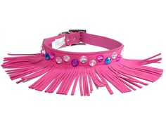 One Tail Four Paws Fringe Collar, Small, Hot Pink *** For more information, visit now : Cat Collar, Harness and Leash