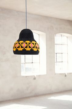 Glimpt - Mattias Rask and Tor Palm - are designers with passion for social justice and global workplace.The lamp is made of coiled seagrass.