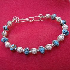 Sterling Silver Bracelet  Handmade Banded by JewelryArtistry