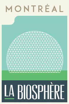 Montreal vintage poster