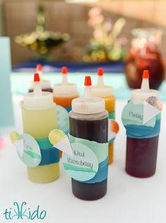 Healthy Fruit Snow Cone Syrup Recipe and Tutorial | Tikkido.com