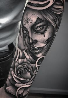 4b4f894f0 71 best Day Of The Dead Tattoo Sleeve images in 2017 | Tattoo ideas ...