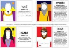 Heróis da Fé – Cartões Educativos (Teologia Visual) • Voltemos ao Evangelho