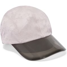 Adidas by Stella McCartney Printed stretch-mesh cap ($57) ❤ liked on Polyvore featuring accessories, hats, light gray, mesh hat, mesh cap, visor cap, stretch hat y sun visor
