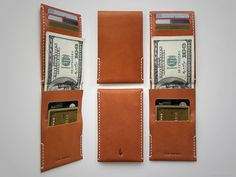 Arkän Minimalist Wallet Handmade Vegetable Tanned by VonVantage