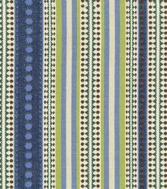 Home Decor Fabric-Annie Selke Chanda Stripe Blue Citrus: home decor fabric: fabric: Shop | Joann.com