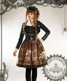Machine Birdcage Steampunk Lolita Vest