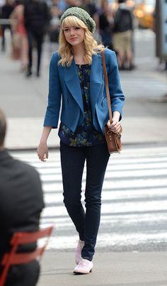 Las mejor vestidas de la semana - Emma Stone  me encanto este outfit