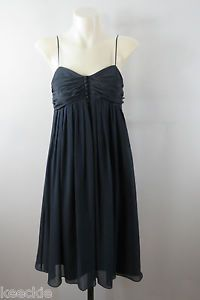 Size S 10 Thurley Ladies Black Silk Dress Sleeveless Cocktail Wedding Formal | eBay