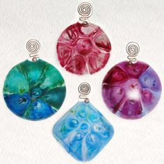 Fused Glass Mesh Melt Sun Catchers  Great way to use scrap glass!