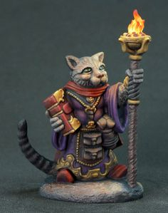 Archer - Grumpy Cat Warlock - Critter Kingdoms™ Anthropomorphic Animals - Miniature Lines