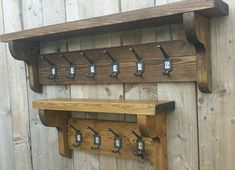 Vintage Style Coat Hook Rack With Shelf You are viewing a beautiful handmade to order antique style coat rack with attached shelf. The wood we use is carpentry grade redwood pine and is given two coats of high quality wax for a gorgeous vintage finish. All hooks are made from cast