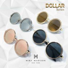 #miramadisonbrand #มิร่าเมดิสัน New Arrival Collection 2016 รุ่น Dollar (ดอลล่า) #dollar #sunglasses แว่นมีเลนส์ทั้งหมด 4 สี - Silver Lens(เลนส์เงิน) - Black Lens(เลนส์ดำ) - PinkGold Lens(เลนส์พิ้งโกล) - GoldYellow(เลนส์เหลืองทอง)
