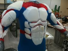 Using foam to make a better muscle suit over a skin suit
