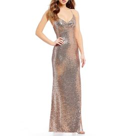Shop for Morgan & Co. V-Neck Sequin Long Dress at Dillards.com. Visit Dillards.com to find clothing, accessories, shoes, cosmetics & more. The Style of Your Life.