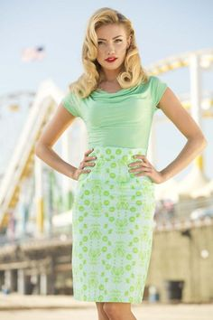 Lime Ricki Skirt